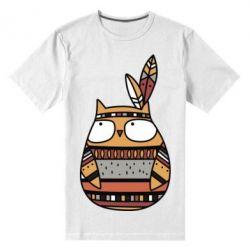 Мужская стрейчевая футболка Ethnic owl 2