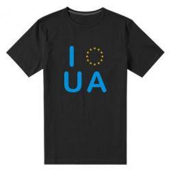 Мужская стрейчевая футболка Euro UA - FatLine
