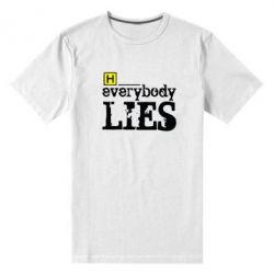 Мужская стрейчевая футболка Everybody LIES House - FatLine