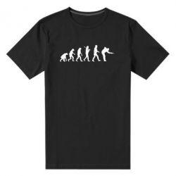Мужская стрейчевая футболка Эволюцию бильярда