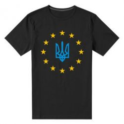 Мужская стрейчевая футболка ЕвроУкраїна - FatLine