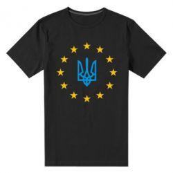 Чоловіча стрейчева футболка ЕвроУкраїна