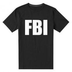 Мужская стрейчевая футболка FBI (ФБР) - FatLine