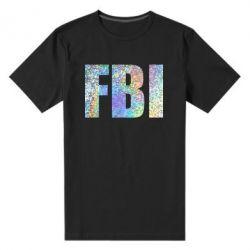 Чоловіча стрейчева футболка FBI голограма