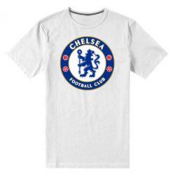 Челси (Chelsea), Мужская стрейчевая футболка FC Chelsea, FatLine  - купить со скидкой