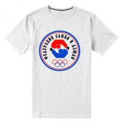 Мужская стрейчевая футболка Федерация Самбо и Дзюдо - FatLine