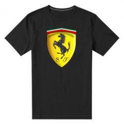 Мужская стрейчевая футболка Ferrari 3D Logo - FatLine