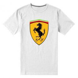 Мужская стрейчевая футболка Ferrari - FatLine