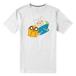 Мужская стрейчевая футболка Фин и Джейк - FatLine