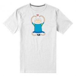 Мужская стрейчевая футболка Finn dancing - FatLine