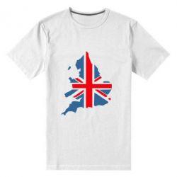Мужская стрейчевая футболка Флаг Англии - FatLine
