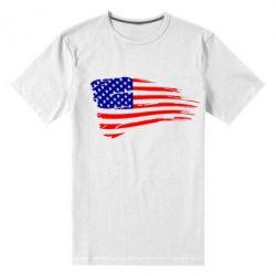 Мужская стрейчевая футболка Флаг США - FatLine