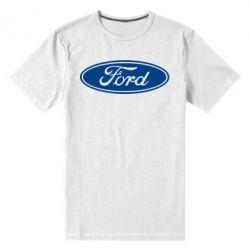 Мужская стрейчевая футболка Ford Logo - FatLine