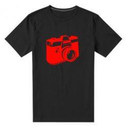 Мужская стрейчевая футболка Фотоаппарат - FatLine