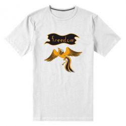 Мужская стрейчевая футболка Freedom! - FatLine