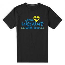 Мужская стрейчевая футболка From Ukraine (вишиванка) - FatLine