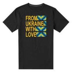 Мужская стрейчевая футболка From Ukraine with Love (вишиванка) - FatLine