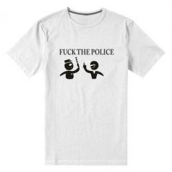 Мужская стрейчевая футболка Fuck the Police - FatLine