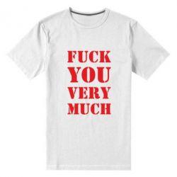 Мужская стрейчевая футболка Fuck you very much
