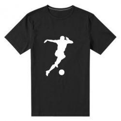 Мужская стрейчевая футболка Футбол - FatLine