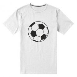 Мужская стрейчевая футболка Футбольный мяч - FatLine