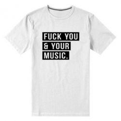 Мужская стрейчевая футболка FY & YM - FatLine