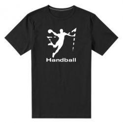 Мужская стрейчевая футболка Гандболист в прыжке - FatLine