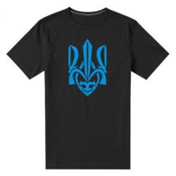 Мужская стрейчевая футболка Гарний герб України - FatLine
