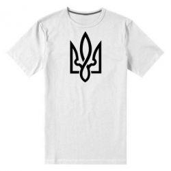 Мужская стрейчевая футболка Герб 2 - FatLine