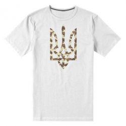 Мужская стрейчевая футболка Герб Хаки - FatLine