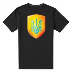 Мужская стрейчевая футболка Герб на щиті - FatLine