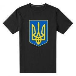 Мужская стрейчевая футболка Герб неньки-України - FatLine