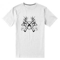 Мужская стрейчевая футболка Герб Охотника - FatLine