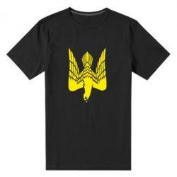 Мужская стрейчевая футболка Герб-сокіл - FatLine