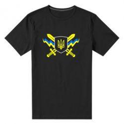 Мужская стрейчевая футболка Герб та мечи - FatLine