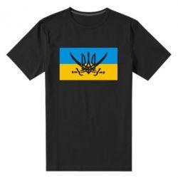 Мужская стрейчевая футболка Герб та шаблі - FatLine