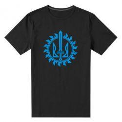 Мужская стрейчевая футболка Герб у сонці - FatLine