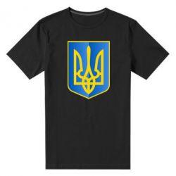 Мужская стрейчевая футболка Герб України 3D - FatLine