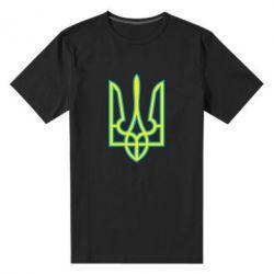 Мужская стрейчевая футболка Герб України (двокольоровий) - FatLine