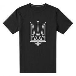 Мужская стрейчевая футболка Герб України (полий) - FatLine