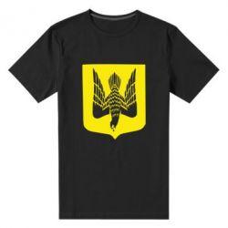 Мужская стрейчевая футболка Герб України сокіл - FatLine