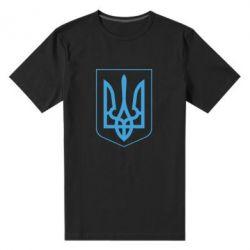 Мужская стрейчевая футболка Герб України з рамкою - FatLine