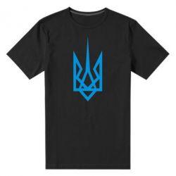 Мужская стрейчевая футболка Герб України загострений - FatLine