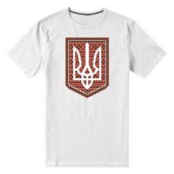 Мужская стрейчевая футболка Герб вышиванка - FatLine