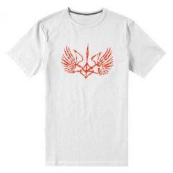 Мужская стрейчевая футболка Герб з крилами - FatLine