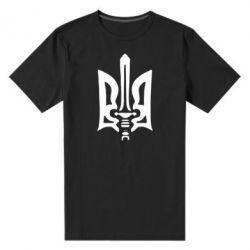 Мужская стрейчевая футболка Герб з мечем - FatLine