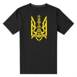 Мужская стрейчевая футболка Герб з металевих частин - FatLine