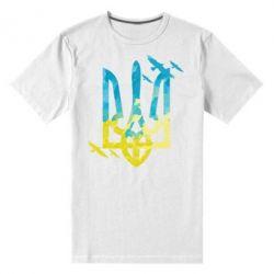 Чоловіча стрейчева футболка Герб з птахами