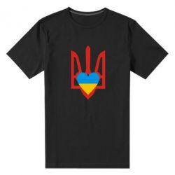 Мужская стрейчевая футболка Герб з серцем - FatLine