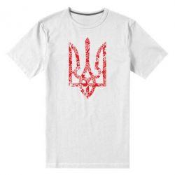 Мужская стрейчевая футболка Герб з візерунками - FatLine